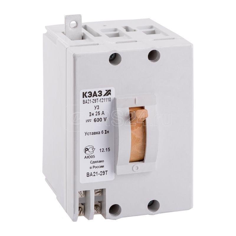 Выключатель автоматический 8А 1.5Iн ВА21-29Т-121110 У3 600В DC КЭАЗ 243904 купить в интернет-магазине RS24