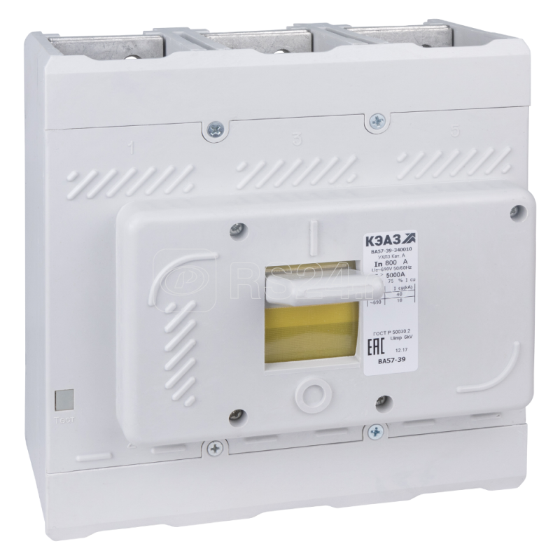 Выключатель автоматический 800А 4000Im ВА57-39-340010 УХЛ3 690В AC КЭАЗ 262040 купить в интернет-магазине RS24
