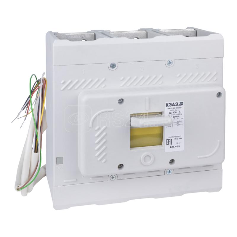 Выключатель автоматический 630А 4000Im ВА57-39-346210 УХЛ3 690В AC НР=110В DC КЭАЗ 267451 купить в интернет-магазине RS24