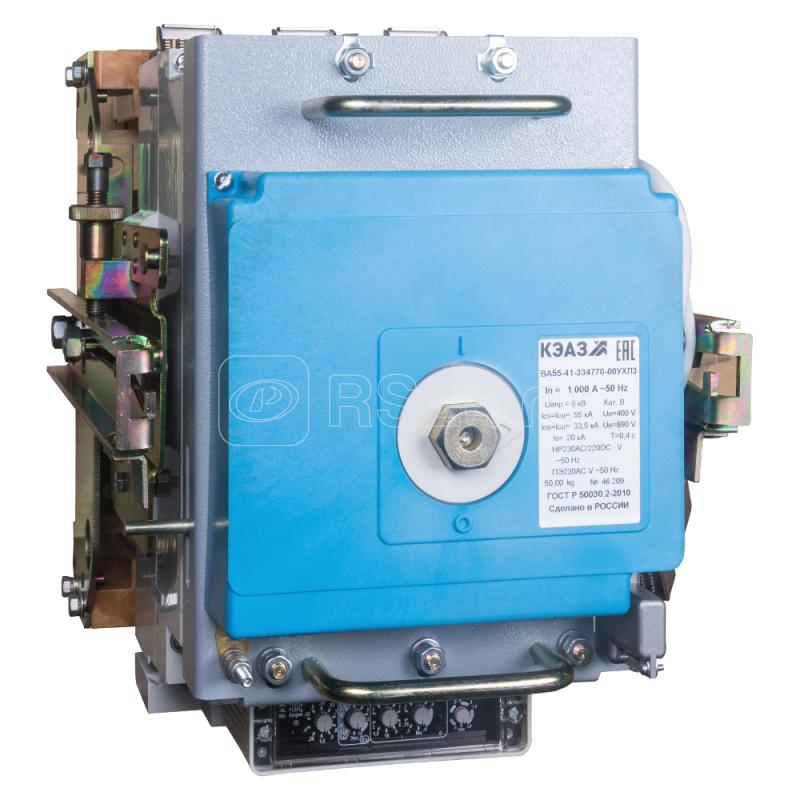 Выключатель автоматический 400А ВА55-41-334770 УХЛ3 690В AC НР=400В AC ПЭ230AC КЭАЗ 268550 купить в интернет-магазине RS24