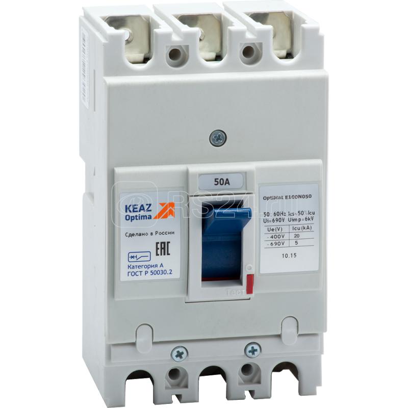 Выключатель автоматический OptiMat E100N050 ОМ4 РЕГ КЭАЗ 273904 купить в интернет-магазине RS24