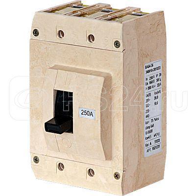 Выключатель автоматический 3п 250А ВА04-36-300015-20 УХЛ3 660В без компл. зажимов Контактор 1028096 купить в интернет-магазине RS24