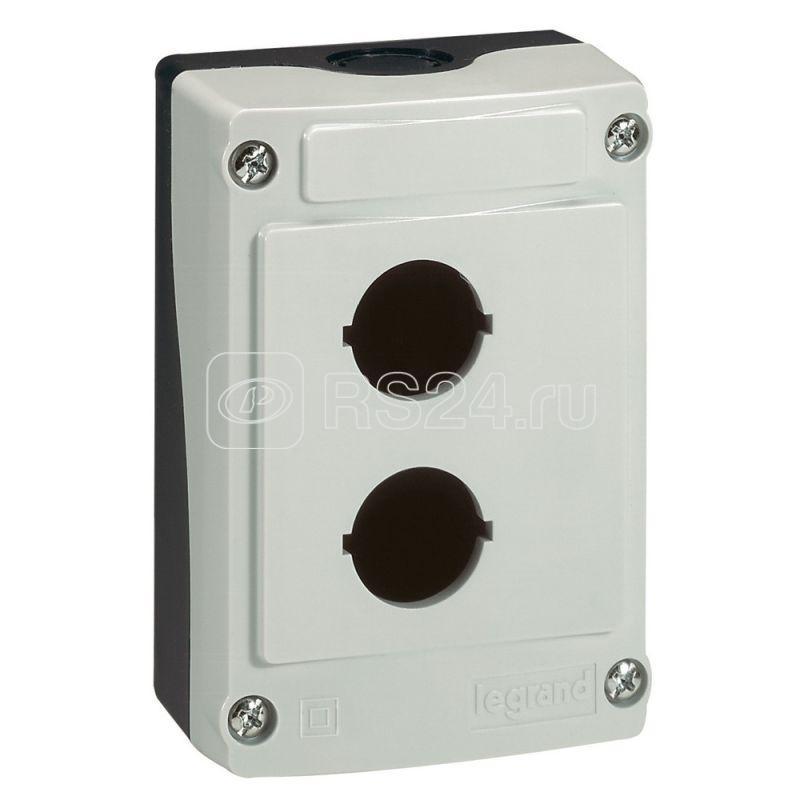 Пост кнопочный 2 отв. сер. Leg 024202 купить в интернет-магазине RS24