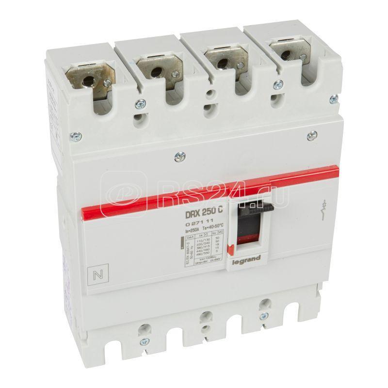 Выключатель автоматический 4п 250А 18кА DRX250 термомагнитн. расцеп. Leg 027111 купить в интернет-магазине RS24