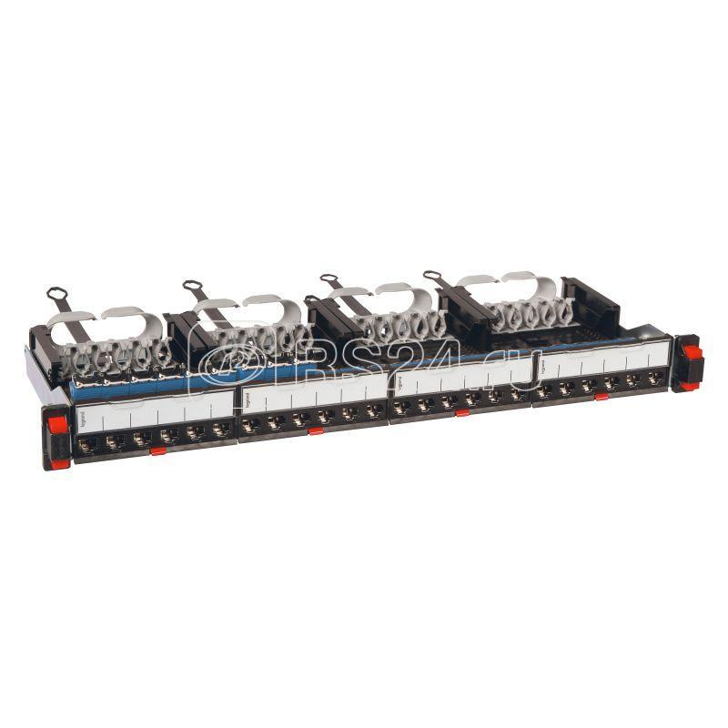 Патч панель укомплектованная 19дюйм 1U категория 6 FTP 24хRJ 45 Leg 033761 купить в интернет-магазине RS24