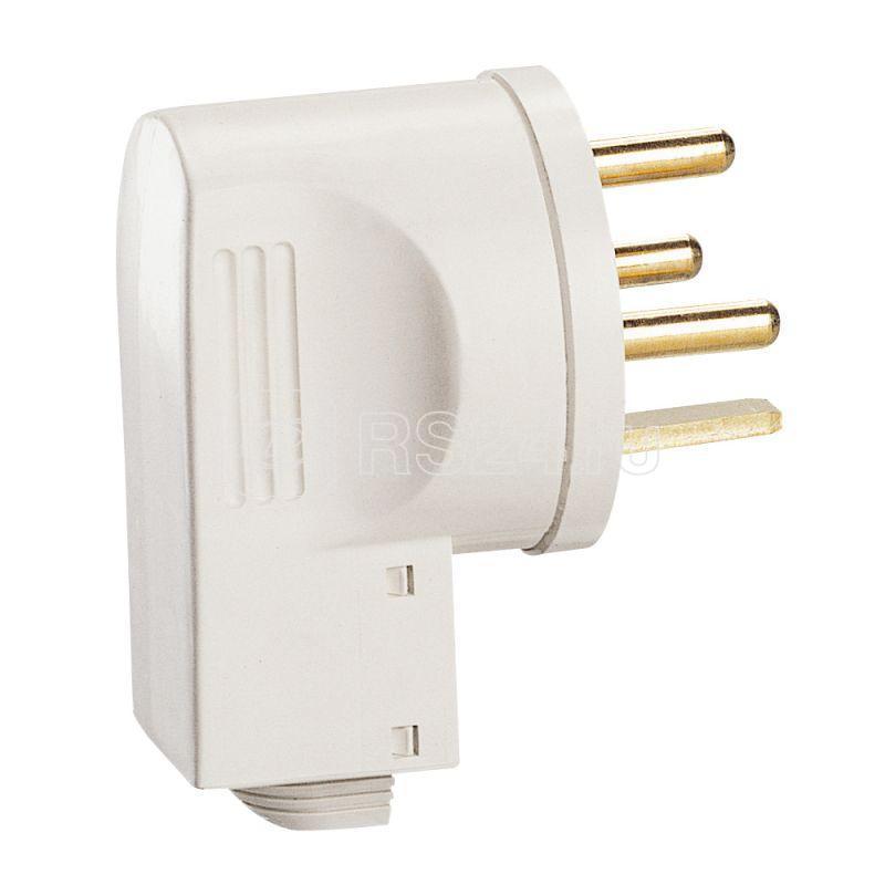 Вилка электрич. 20А 3P+E 380W IP44 сл. кость Leg 055155