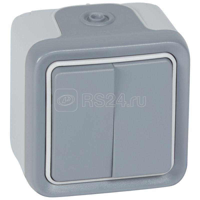 Переключатель на 2 направления 2-кл. ОП Plexo 10А IP55 250В 10AX сер. Leg 069715 купить в интернет-магазине RS24