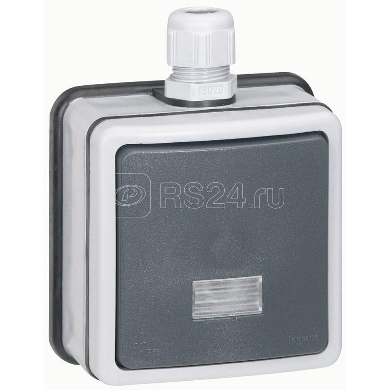 Переключатель на 2 направления 1-кл. 2п ОП Plexo 10А IP66 с подсветкой сер. Leg 090464 купить в интернет-магазине RS24