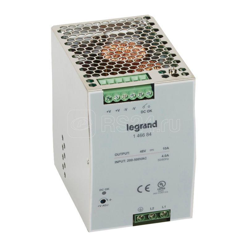 Источник питания импульсный 1/2-фазный 48В 480Вт 10А Leg 146684 купить в интернет-магазине RS24