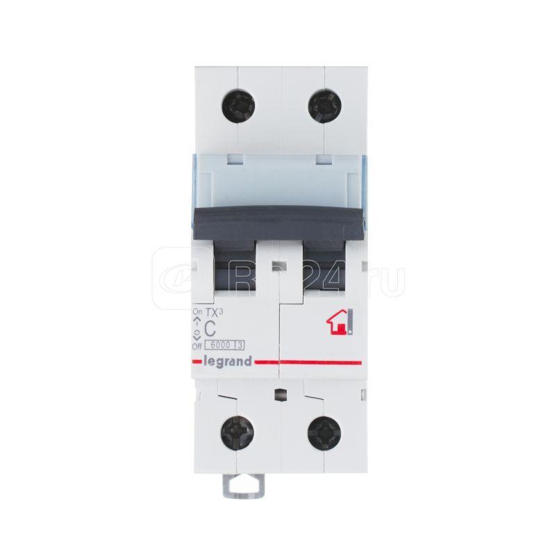 Выключатель автоматический модульный 2п C 20А 6кА TX3 6000 2мод. 230/400В Leg 404043 купить в интернет-магазине RS24