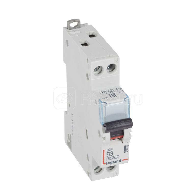 Выключатель автоматический модульный 2п (1P+N) B 3А 10кА DX3 6000 1мод. 230/400В Leg 407470 купить в интернет-магазине RS24