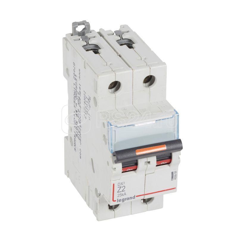 Выключатель автоматический модульный 2п Z 2А 25кА DX3 Z 2мод. 230/400В Leg 409908 купить в интернет-магазине RS24