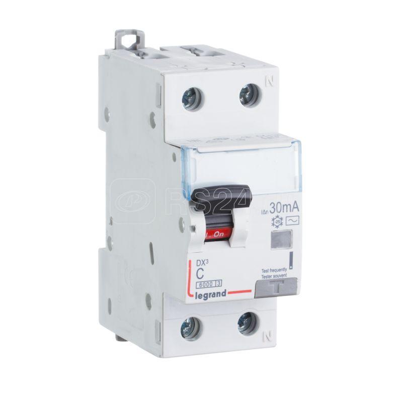 Выключатель авт. диф. тока 1п+Н C 6А 30mA-Hpi DX3 Leg 411091 купить в интернет-магазине RS24