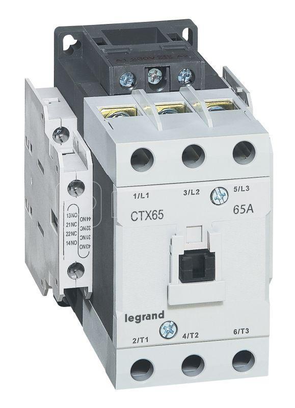 Контактор CTX-3 3P 65А 2НО 2HЗ ~110В Leg 416164 купить в интернет-магазине RS24