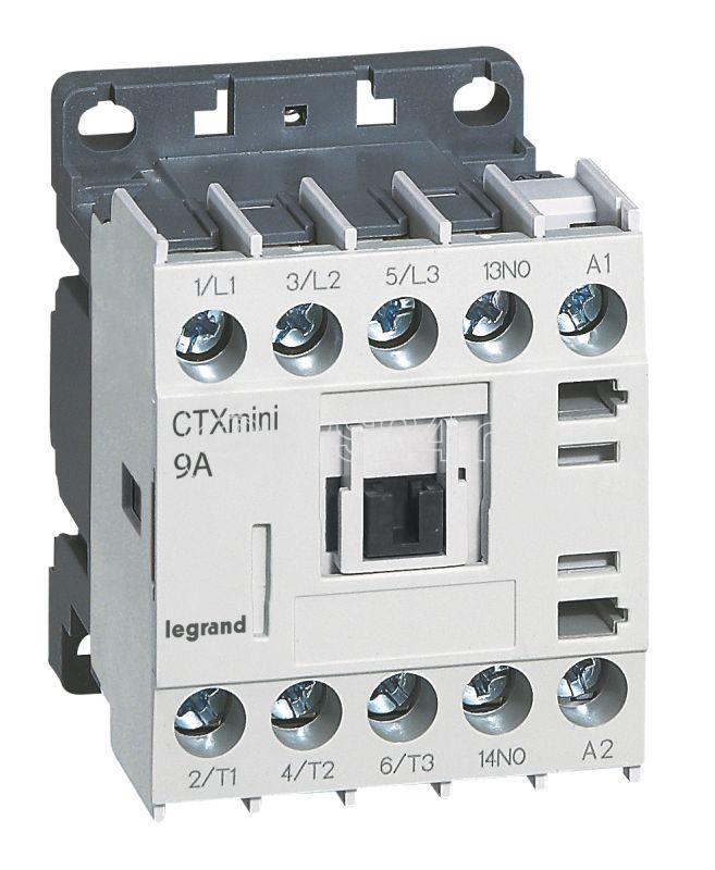 Контактор CTX-3 3P 9А 1HЗ ~24В мини Leg 417030 купить в интернет-магазине RS24
