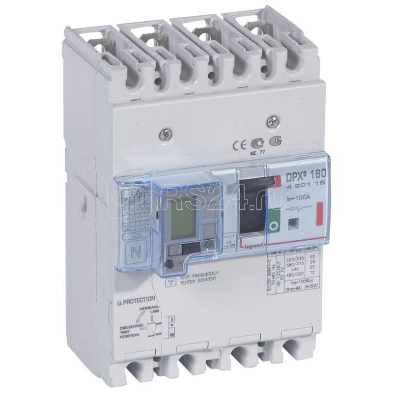 Выключатель автоматический дифференциального тока 4п 100А 36кА DPX3 160 термомагнитн. расцеп. Leg 420115 купить в интернет-магазине RS24