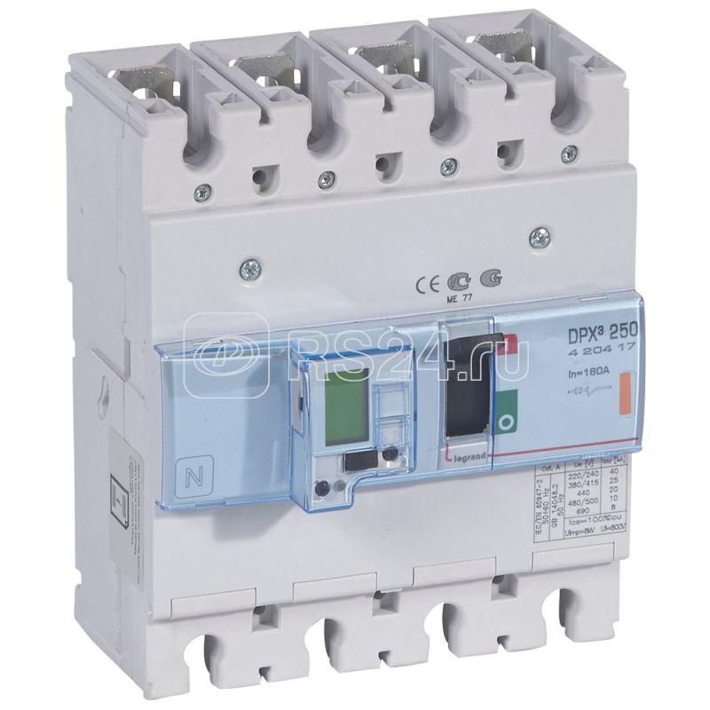 Выключатель автоматический 4п 160А 25кА DPX3 250 400В электрон. расцеп. с изм. блоком Leg 420417 купить в интернет-магазине RS24