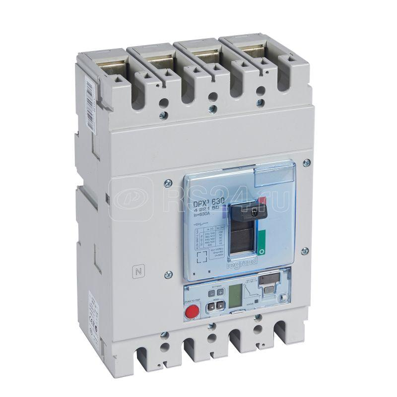 Выключатель автоматический 4п 630А 50кА DPX3 630 электрон. расцеп. Sg Leg 422155 купить в интернет-магазине RS24