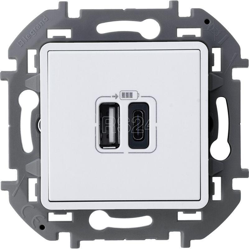 Устройство зарядное Inspiria с 2-мя USB разьемами A и C 240В / 5В 3000мА бел. Leg 673760 купить в интернет-магазине RS24