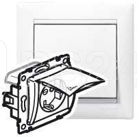 Механизм розетки 1-м СП Valena 16А IP44 2P+E с заземл. бел. (DIY-упак.) Leg 695641 купить в интернет-магазине RS24