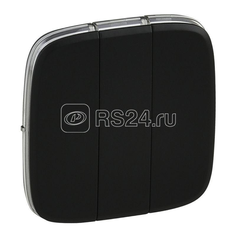 Панель лицевая Valena Allure для 3-кл. выкл антрацит Leg 755038 купить в интернет-магазине RS24