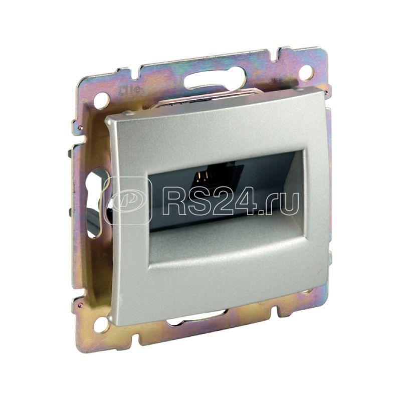 Механизм розетки информ. СП Valena 1ХRJ45 FTP алюм. Leg 770232 купить в интернет-магазине RS24