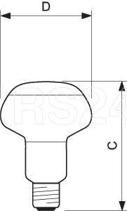 Лампа накаливания Refl NR80 60W E27 230V Green (зелен.) Philips 871150006653415