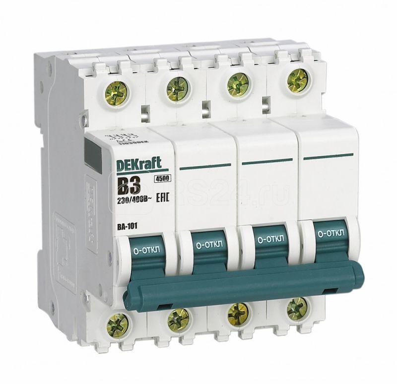 Выключатель автоматический модульный 4п B 3А 4.5кА ВА-101 SchE 11039DEK купить в интернет-магазине RS24