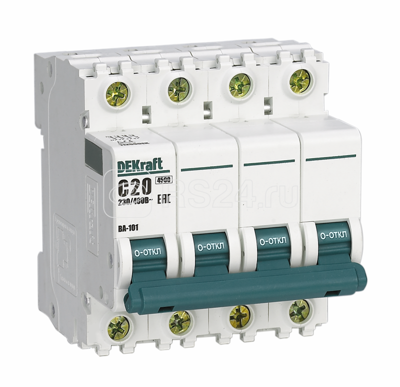 Выключатель автоматический модульный 4п C 32А 4.5кА ВА-101 SchE 11093DEK купить в интернет-магазине RS24