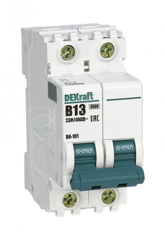 Выключатель автоматический модульный 2п B 13А 4.5кА ВА-101 SchE 11208DEK купить в интернет-магазине RS24