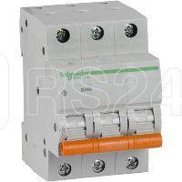 Выключатель автоматический модульный 3п C 10А 4.5кА BA63 Домовой SchE 11222