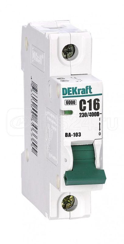 Выключатель автоматический модульный 1п B 6А 6кА ВА-103 SchE 12006DEK купить в интернет-магазине RS24