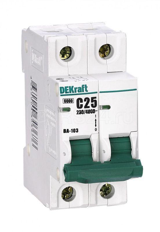 Выключатель автоматический модульный 2п C 3А 6кА ВА-103 SchE 12067DEK