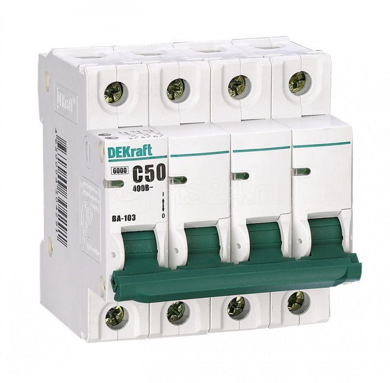 Выключатель автоматический модульный 4п C 6А 6кА ВА-103 SchE 12102DEK купить в интернет-магазине RS24