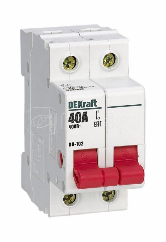Выключатель-разъединитель 2п 40А ВН-102 SchE 17024DEK купить в интернет-магазине RS24