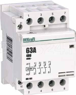 Контактор модульный МК-103 4НО 63А 230В SchE 18088DEK купить в интернет-магазине RS24