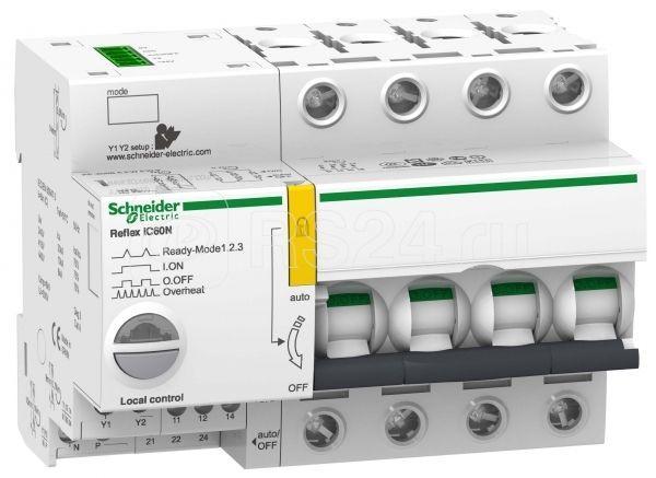 Выключатель автоматический модульный 4п B 40А iC60N REFLEX Ti24 SchE A9C61440 купить в интернет-магазине RS24