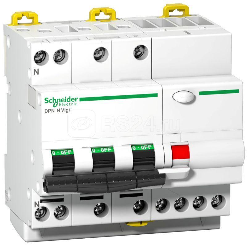 Выключатель автоматический дифференциального тока 4п C 16А 300мА тип AC 6кА DPN N Vigi Acti9 SchE A9D41716 купить в интернет-магазине RS24