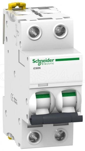 Выключатель автоматический модульный 2п D 4А 6кА iC60N SchE A9F75204 купить в интернет-магазине RS24