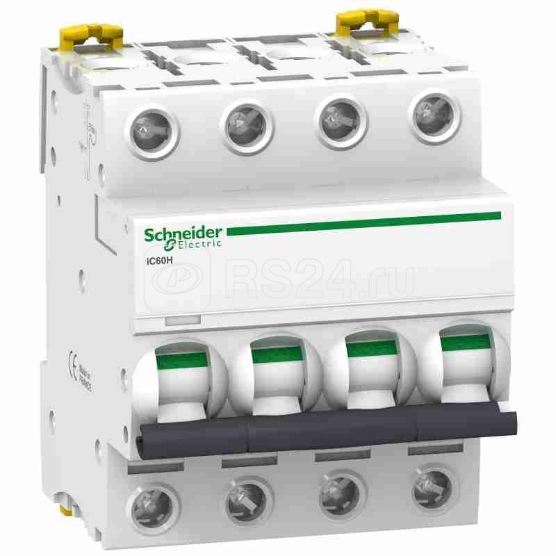 Выключатель автоматический модульный 4п C 63А 10кА iC60H Acti9 SchE A9F89463 купить в интернет-магазине RS24