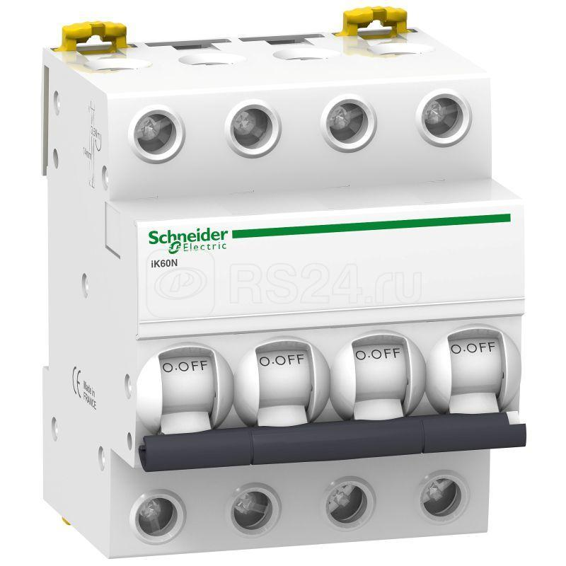Выключатель автоматический модульный 4п C 10А iK60 SchE A9K24410 купить в интернет-магазине RS24