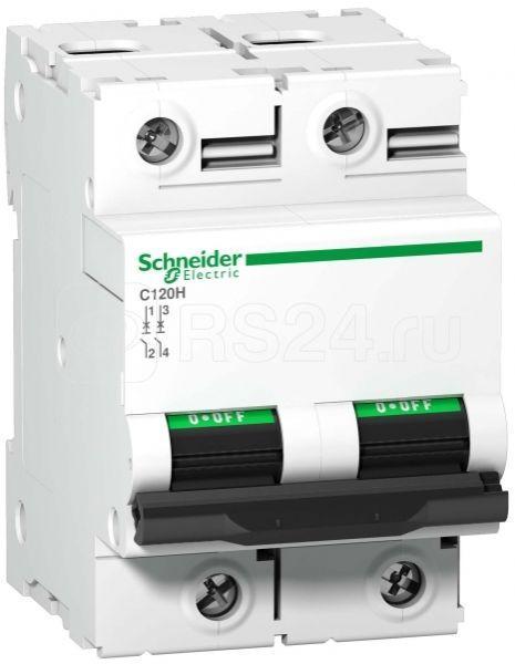 Выключатель автоматический модульный 2п B 80А 15кА C120H SchE A9N18413 купить в интернет-магазине RS24