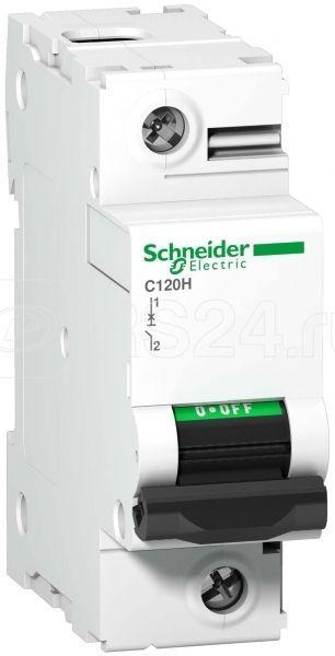 Выключатель автоматический модульный 1п C 80А 15кА C120H SchE A9N18446 купить в интернет-магазине RS24