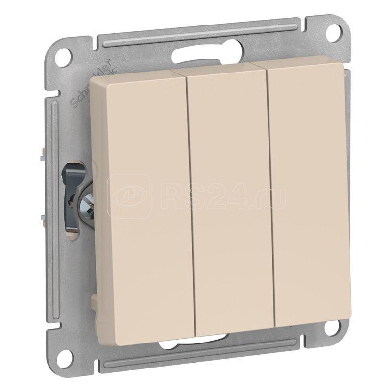 Механизм выключателя 3-кл. СП AtlasDesign 10А IP20 (сх. 1+1+1) 10AX беж. SchE ATN000231 купить в интернет-магазине RS24