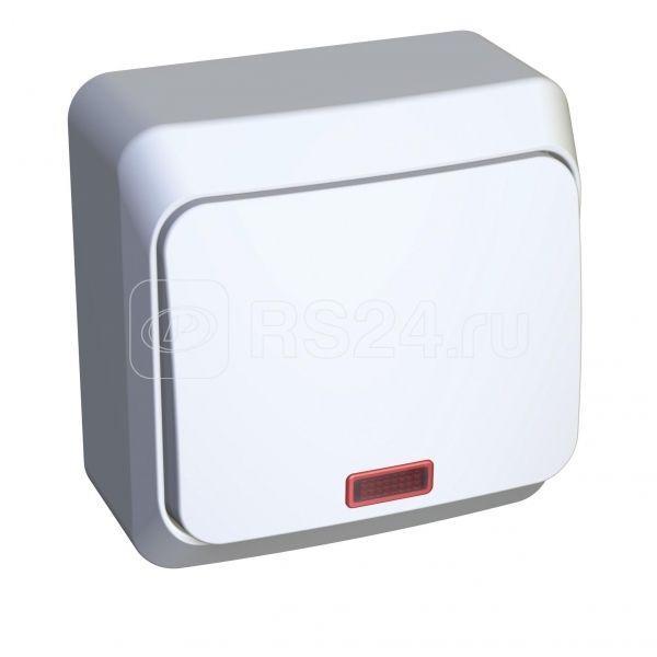 Выключатель 1-кл. ОП Этюд 10А IP20 с индик. бел. SchE BA10-005B