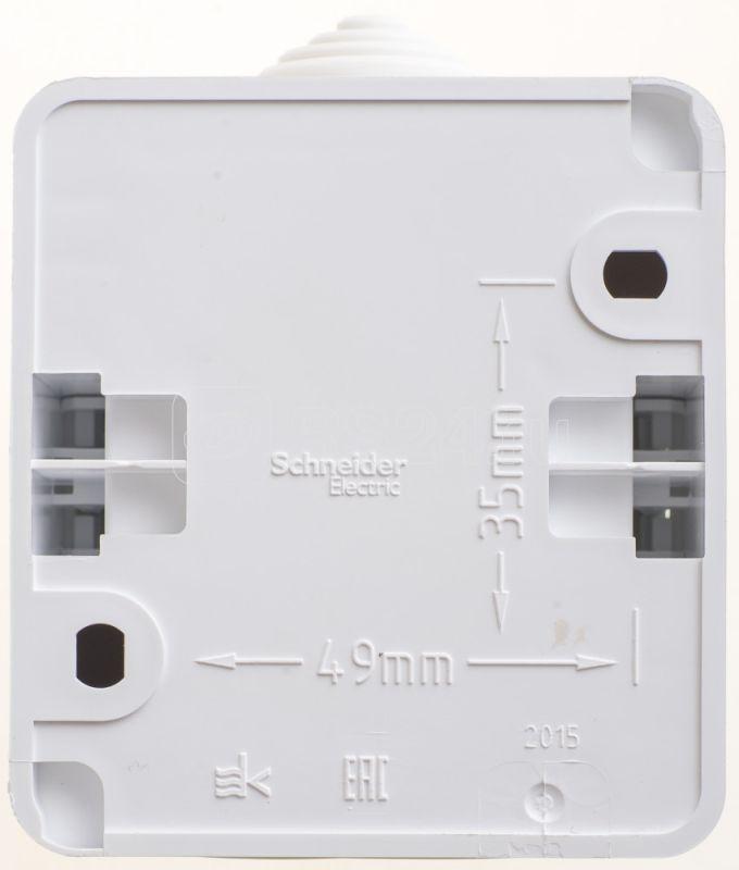 Выключатель 1-кл. ОП Этюд 10АХ IP44 бел. SchE BA10-041B