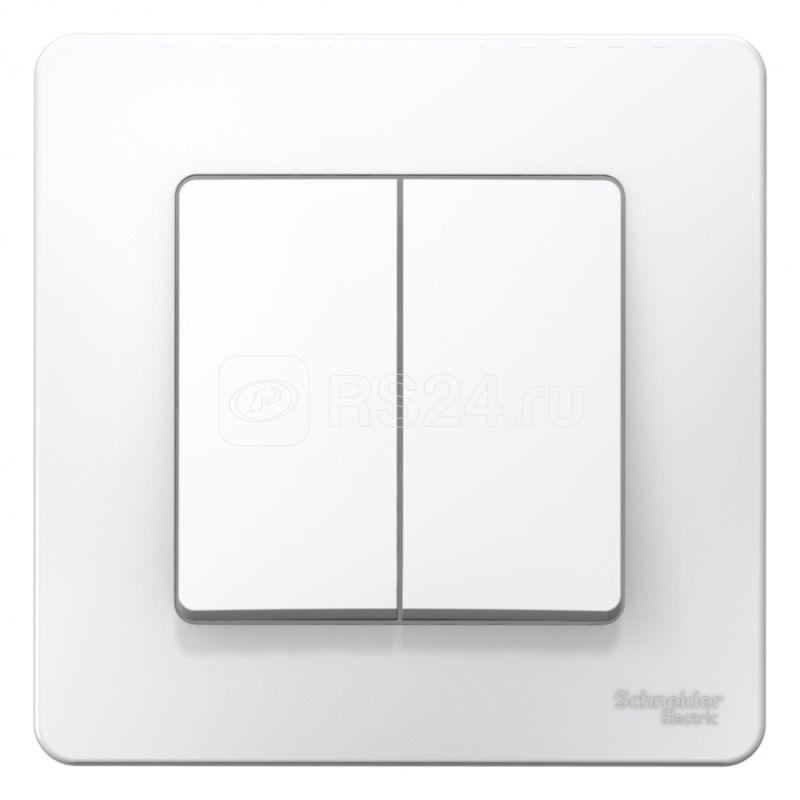Выключатель 2-кл. СП Blanca 10А IP20 (сх. 5) 250В бел. SchE BLNVS010501 купить в интернет-магазине RS24