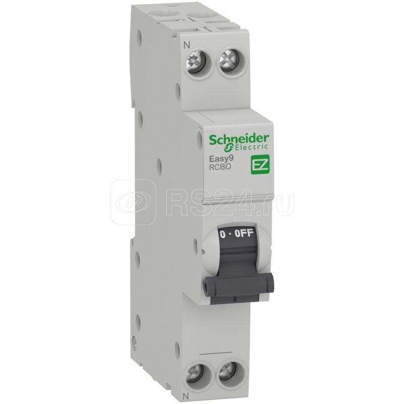 Выключатель автоматический диф. тока 1P+N C 16А 30мА 4.5кА AC 18мм SchE EZ9D33616 купить в интернет-магазине RS24