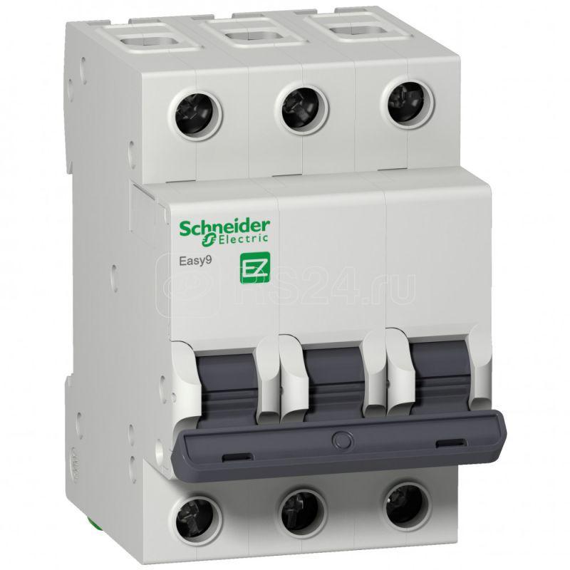 Выключатель автоматический модульный 3п B 50А 4.5кА EASY9 =S= SchE EZ9F14350 купить в интернет-магазине RS24