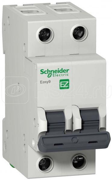 Выключатель автоматический модульный 2п C 50А 4.5кА EASY9 =S= SchE EZ9F34250 купить в интернет-магазине RS24